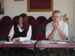 Martina Ortner protokollierte und Ernst Wolfswinkler moderierte die Vollversammlung am 6. Oktober 2011